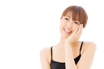 attractive asian woman skincare image
