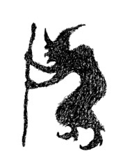 witch doodle silhouette