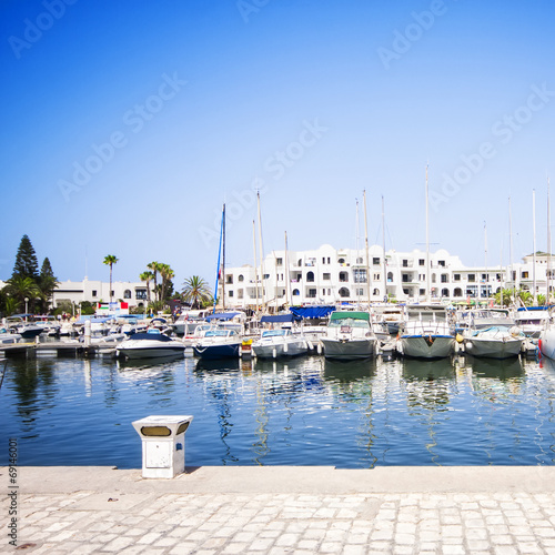 Fotobehang Tunesië Marina Port El Kantaoui, Tunisia.
