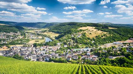 Vineyards and Mountains near Saarburg