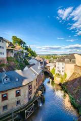 Houses and River in Saarburg, Germany