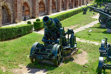 Military canons and tanks at Kalemegdan fortress as a part of Mi