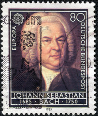 stamp printed in Germany shows Johann Sebastian Bach