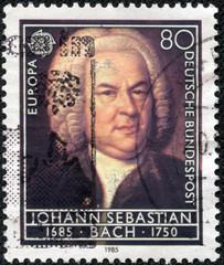 stamp printed in Germany shows Johann Sebastian Bach