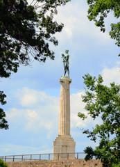 Victory monument at Kalemegdan fortress in Belgrade Serbia