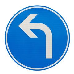 direction obligatoire à la prochaine intersection à gauche