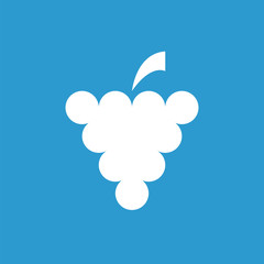 grapes icon, white on the blue background .