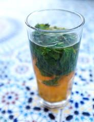 verre de thé à la menthe