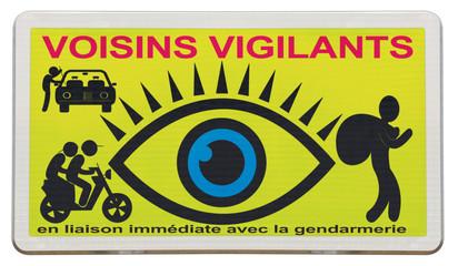"affiche ""voisins vigilants"""
