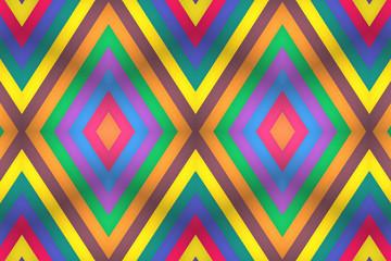Façade multicolore  Losange - Bois coloré