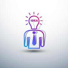 Idea concept, lamp head business human have got an idea