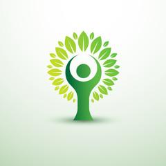 trees in the form of human green creative idea,vector illustrat