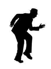 Silhouette of a Man Sneaking