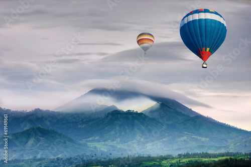 ndonesia with hot air travel balloon - 69149861