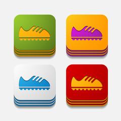 square button: sneakers