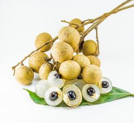 organic fresh longan isolated picture  on white background