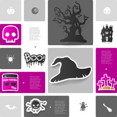 Halloween sticker infographic