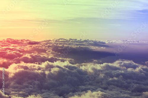 Foto op Canvas Landschappen Above clouds