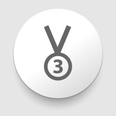 3rd Position Medal Icon - vector