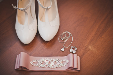 Shoes of the bride.Shoes of the bride.
