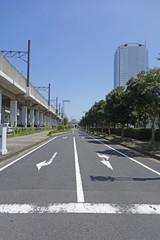 高架線と道路