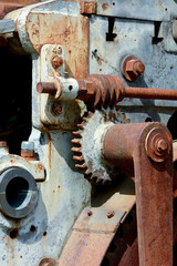 Old rusty Victorian machinery parts
