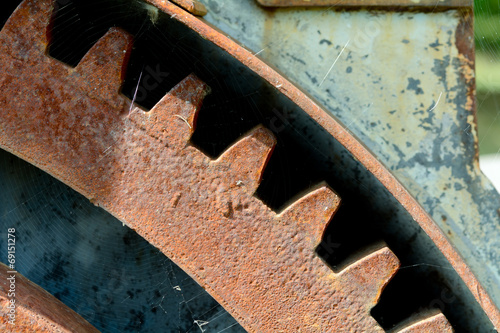canvas print picture Old rusty Victorian machinery parts