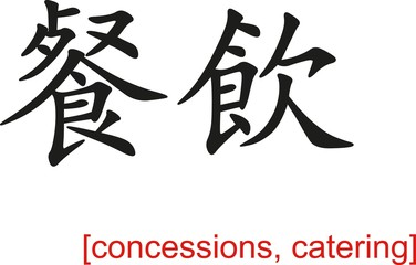 Chinese Sign for concessions, catering