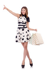 Woman in shopping concept