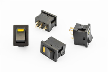 Yellow Rocker Switches with Build-in LED