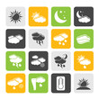 Silhouette Weather and meteorology icons