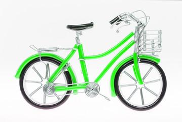 Green Handmade Bicycle Figure