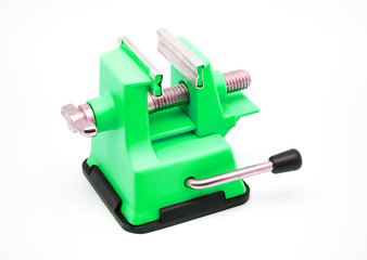 Green Plastic Bench Vise with Suction Cup