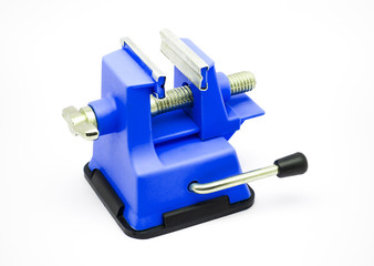 Blue Plastic Bench Vise with Suction Cup