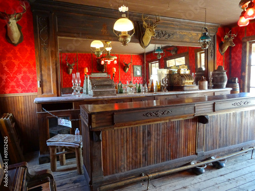 Fotobehang Buffet, Bar Ghost town (Saloon) - Cody / Wyoming,