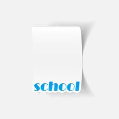 realistic design element: school