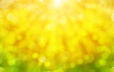 Abstract spring background with sunlight