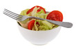 Bol de salade et rondelles de tomate
