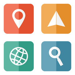 Location travelling icons