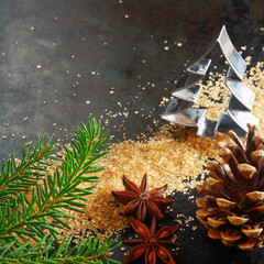 Christmas background for a greeting card