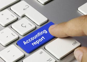 Accounting report. Keyboard