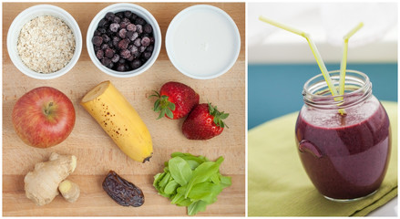 Ingredients for smoothie