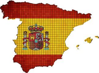 Spain map grunge mosaic