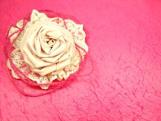 Frame Of Rose Fabric Handmade Decoration