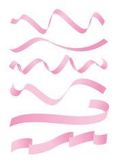 Set of pink ribbons design