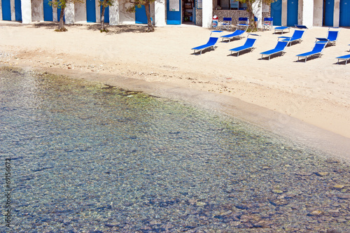 canvas print picture stabilimento balneare