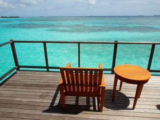 Relaxing in Sunny Maldives