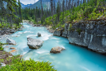 Marble Canyon at the Canadian Rockies