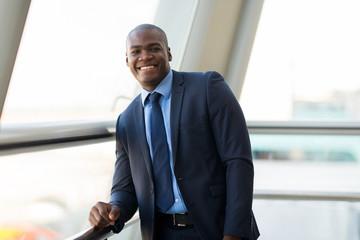 african businessman in modern office
