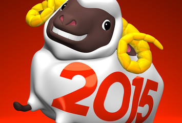 Close-up Of 2015 White Sheep